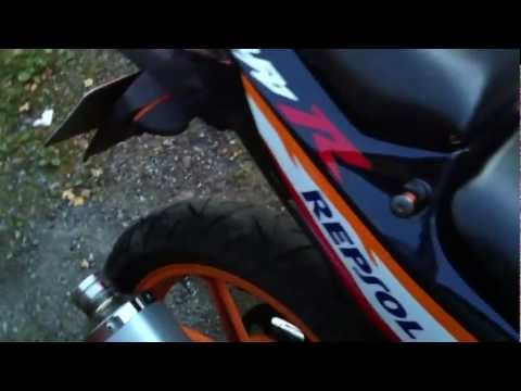 Honda CBR 125 R Repsol 2007 Arrow exhaust sound