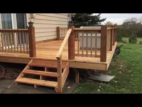 New Red Cedar Deck in Springfield Ne