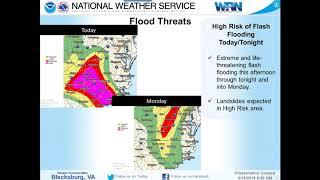 NWS Blacksburg Weather Briefing - 9/16/18