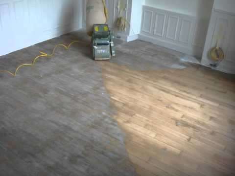 Renovation d 39 un parquet ch ne youtube - Parquet peint en blanc ...
