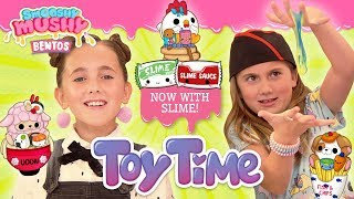 Toy Time Episode 9 | New Smooshy Mushy Bentos! Now with Bonus Slime! | Kids Toy Unboxing & Crafts