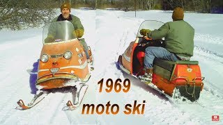 1969 Moto Ski Zephyr Laying Tracks In The Snow