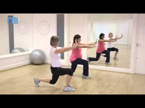 Forward Lunge with Push and Walking Lunge   Pregnancy Health   Fitness