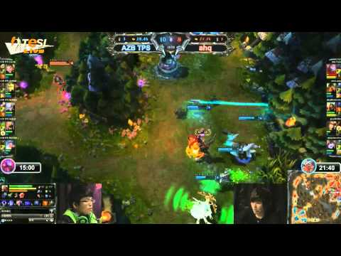 ahq e-Sports vs Azubu TPS game 1 - TeSL 2013, week 8