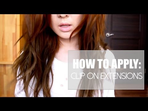 HOW TO APPLY: CLIP ON EXTENSIONS