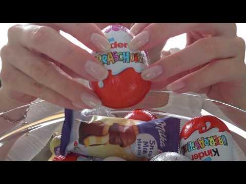 ASMR Candy Eating + Trigger to relax / АСМР Ем сладости и расслабляющие триггеры