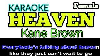 Download Lagu [Karaoke, Female] HEAVEN - Kane Brown (+ Lyrics/Lyric Video) Gratis STAFABAND