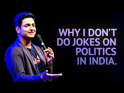 Why I Dont Do Jokes About Politics in India - Stand Up Comedy  Kenny Sebastian