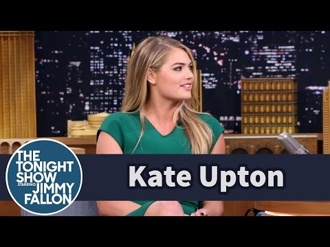 Kate Upton Tries to Say Mean Things with a Smile