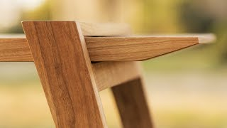 Designing and Building a Modern Bench - Woodworking Projects