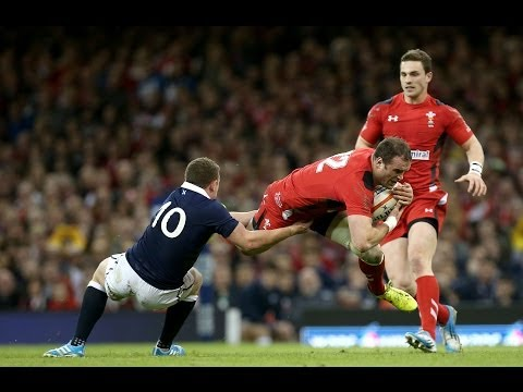 Jamie Roberts' shortlisted try