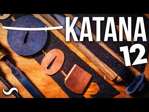 MAKING A KATANA!!! 1 MILLION LAYERS!!! PART 12 - STINGRAY LEATHER