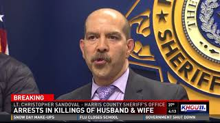 Three arrested in killings of husband and wife in Spring