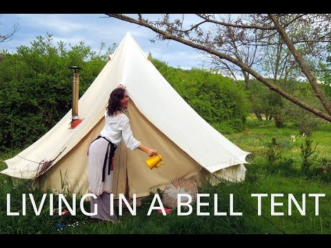 Living in a Bell Tent in the autumn. winter . spring in France 2013-14