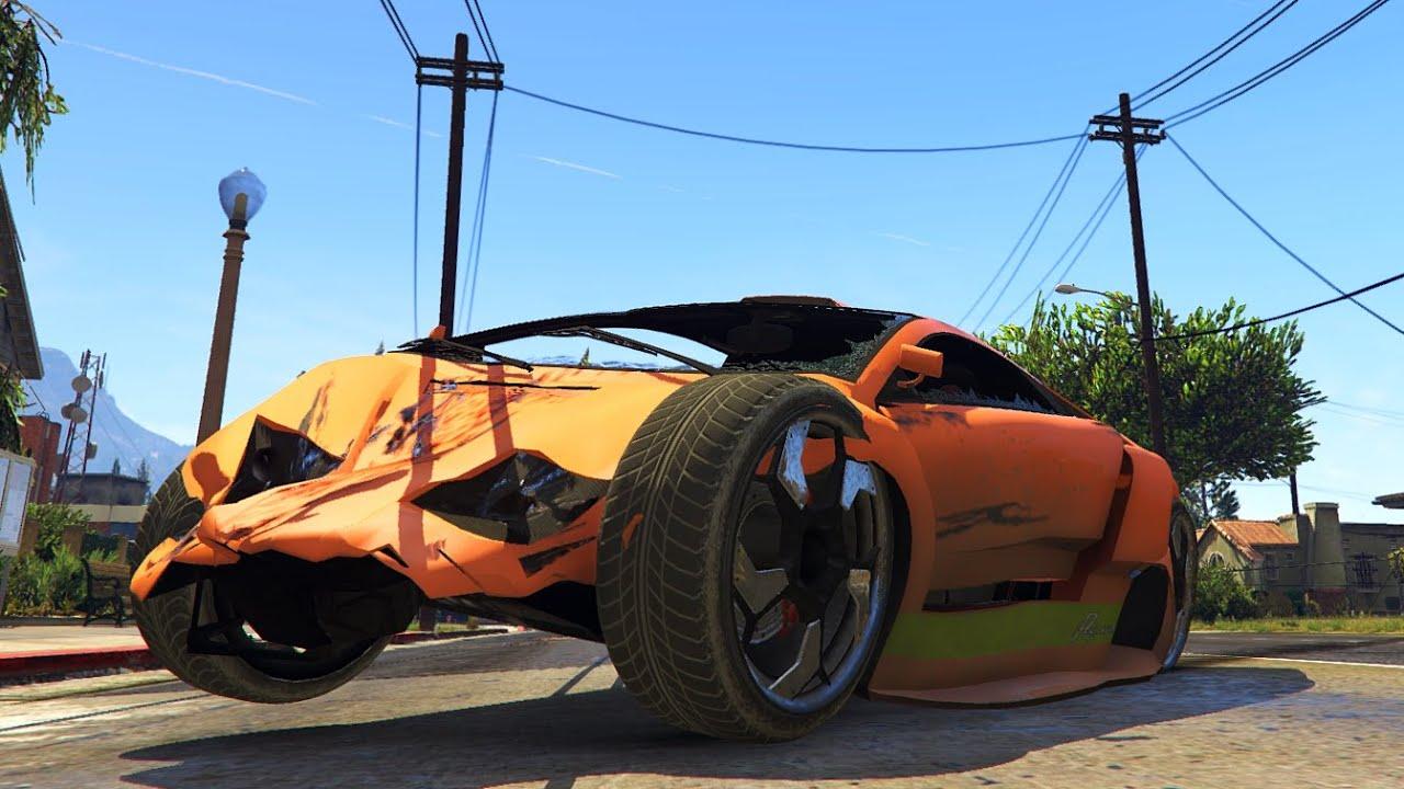GTA 5 PC Mods GTA IV Damage Mod Realistic Crash Deformation - YouTube
