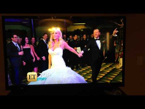 Donnie Wahlberg and Jenny McCarthys wedding on Entertainment Tonight