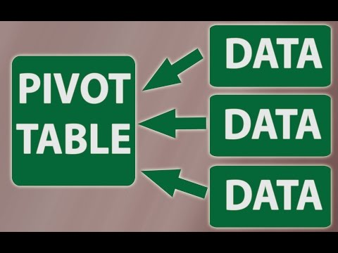 Consolidate multiple worksheets into one Excel Pivot Table