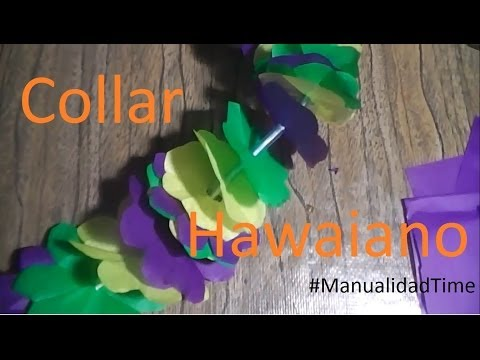 Manualidad | Collar hawaiano de papel