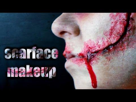 ScarFace Makeup   Лицо со ШРАМОМ