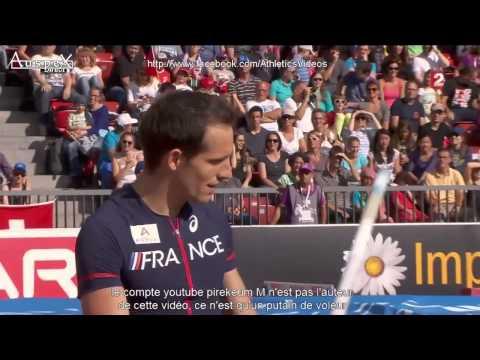Renaud Lavillenie champion d'Europe 2014 Zürich 5m90