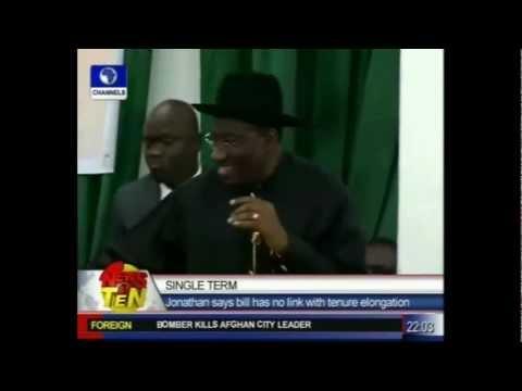 Igbo Radio - TV News - www.igbo.ca - Goodluck Jonathan - Single Term
