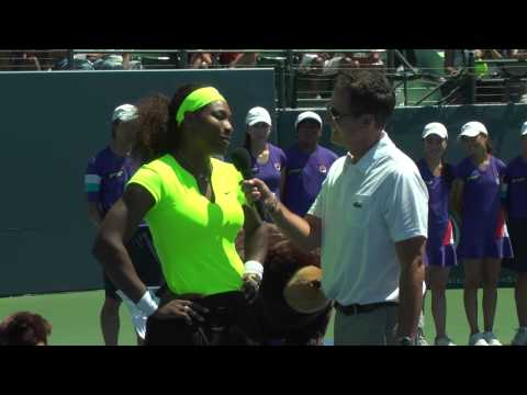 2012- Serena Williams Trophy Ceremony