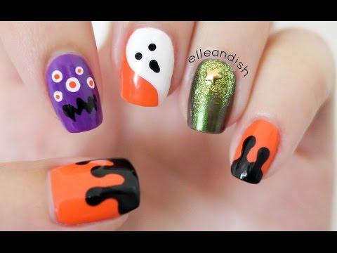 ✘ No Nail Tools! Halloween Nails ✘