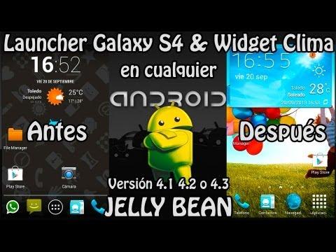 Instalar Launcher Galaxy S4 & Widget del Clima en cualquier Android + Fondos Pantalla y APKs