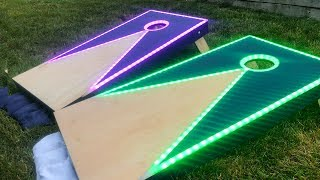 How To Make LED Cornhole Boards!!!