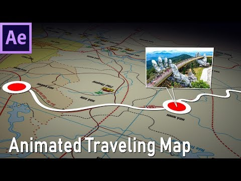 How to make animated travel map in After Effects - 93
