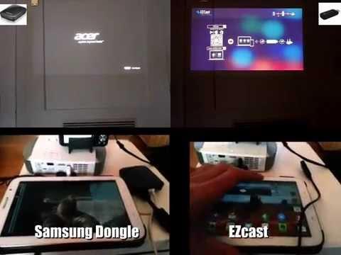 Comparison AllShare Cast Dongle vs. EZcast Mirroring Time