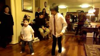 Jack and Noel (Jun & Shukofeh's kid) dance on 2011 Xmas Eve Party