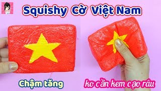 DIY Làm Squishy Cờ Việt Nam chậm tăng / Homemade Squishy / Ami DIY