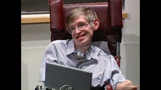 Stephen Hawking speaks at MIT - Education and Technology Sept. 1994