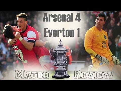 Arsenal are going to Wembley! Arsenal vs Everton 4-1 FA Cup 2013-14
