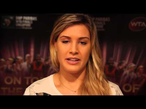 Eugenie Bouchard thanks her Canadian fans