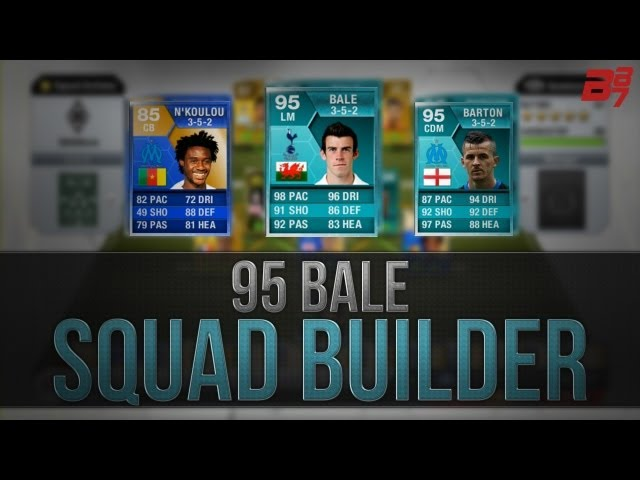 THE MOST EXPENSIVE SQUAD BUILDER EVER! 95 BALE PLAYER CARD ft 95 BARTON! | Fifa 13 Ultimate Team
