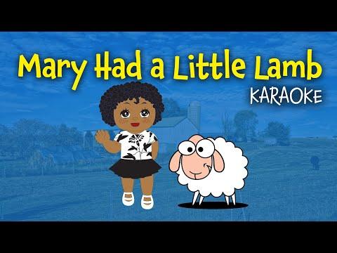 Mary had a Little Lamb (instrumental - lyrics video for karaoke)