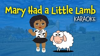Mary Had a Little Lamb | Free Instrumental - Lyrics video for karaoke)