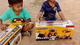 ว้าว ว้าว !!!! รีวิวของเล่นใหม่ รถบังคับบรรทุก6 ล้อ แบ็คโฮตักดิบบังคับExcavator and Dump Truck toys