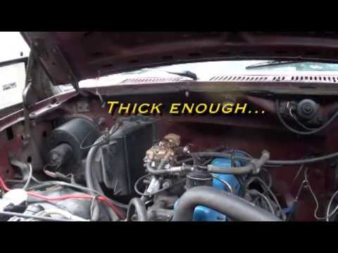Vacuum leak hunt. Dan's 1980 Ford F-150 300 Straight Six