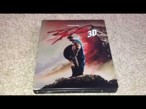300: Rise of an empire 3D UK Blu-Ray steelbook unboxing