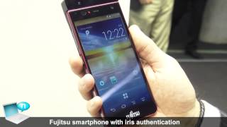 Fujitsu smartphone iris scanner authentication