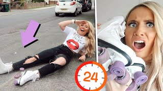 I only wore ROLLER BOOTS for 24hours!! *in public*