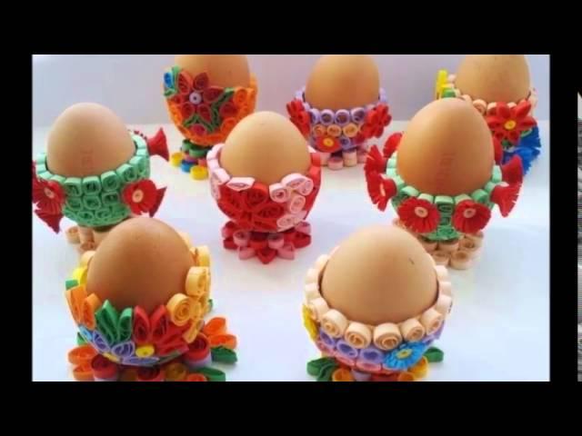 Пасхальные яйца из бумаги в технике квиллинг