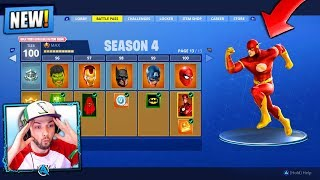 *NEW* SEASON 4 in Fortnite: Battle Royale! (SUPER HEROES)