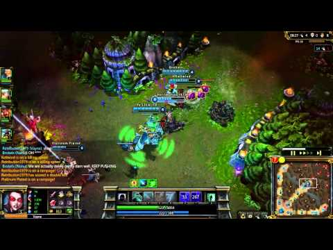 League of Legends - Fun troll game 5 mid against bots