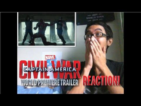 Captain America: Civil War - World Premiere Trailer REACTION!