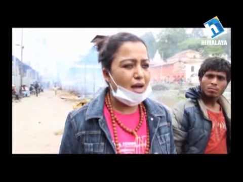 Help of Rekha Thapa during Earthquake 2015