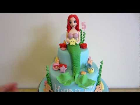 Ariel The Little Mermaid Cake - How to on my channel